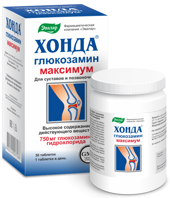 Хонда Глюкозамин максимум, 30 таблеток, Эвалар