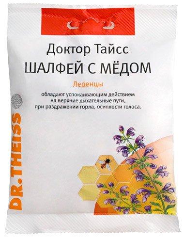 Леденцы Шалфей с медом, 50 гр, Доктор Тайсс