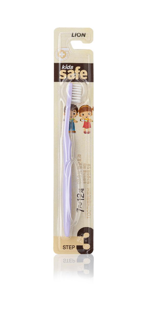 Зубная щетка детская Kids Safe с нано-серебром №3 (от 7 до 12 лет), CJ Lion фото