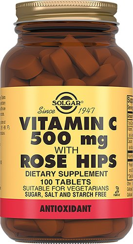 Витамин С и шиповник, 100 таблеток, Solgar