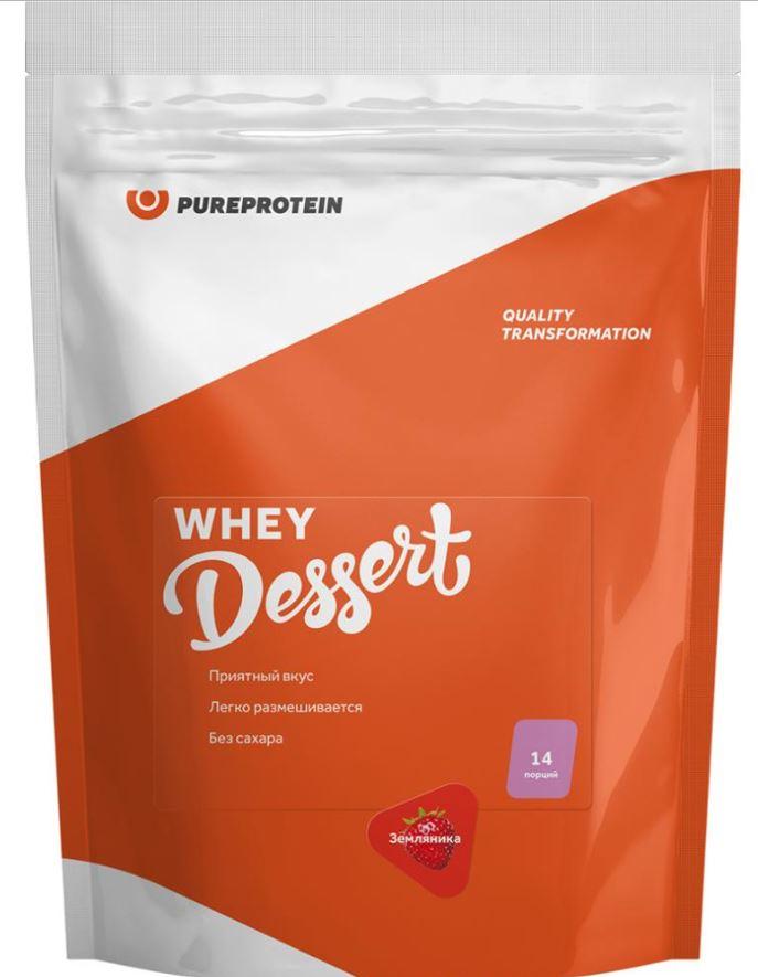 Сывороточный десерт, вкус «Земляника», 420 гр, Pure Protein фото