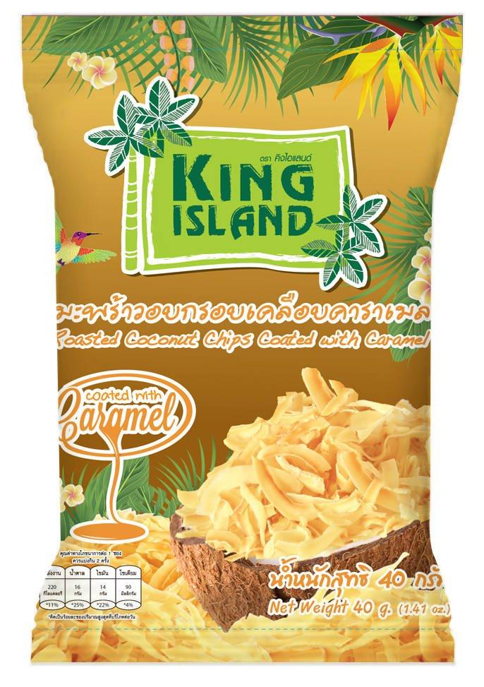 Кокосовые чипсы с карамелью, 40 гр, KING ISLAND фото