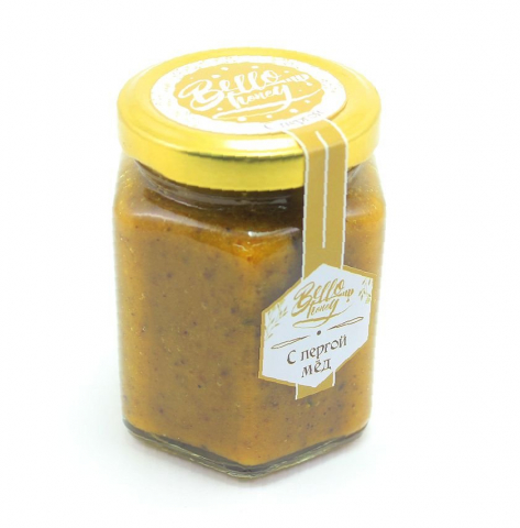 Мёд с пергой, 200 мл, BelloHoney
