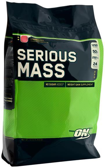 Гейнер Serious Mass, вкус клубника, 5455 гр, Optimum Nutrition