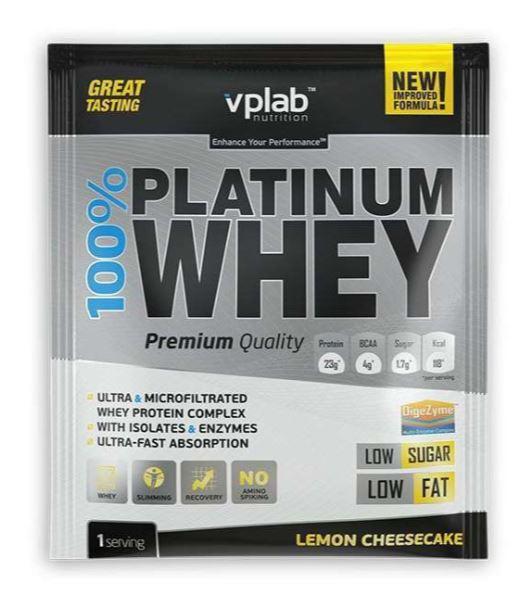 Сывороточный протеин 100% Platinum Whey, вкус «Лимонный чизкейк», 908 гр, VPLab фото