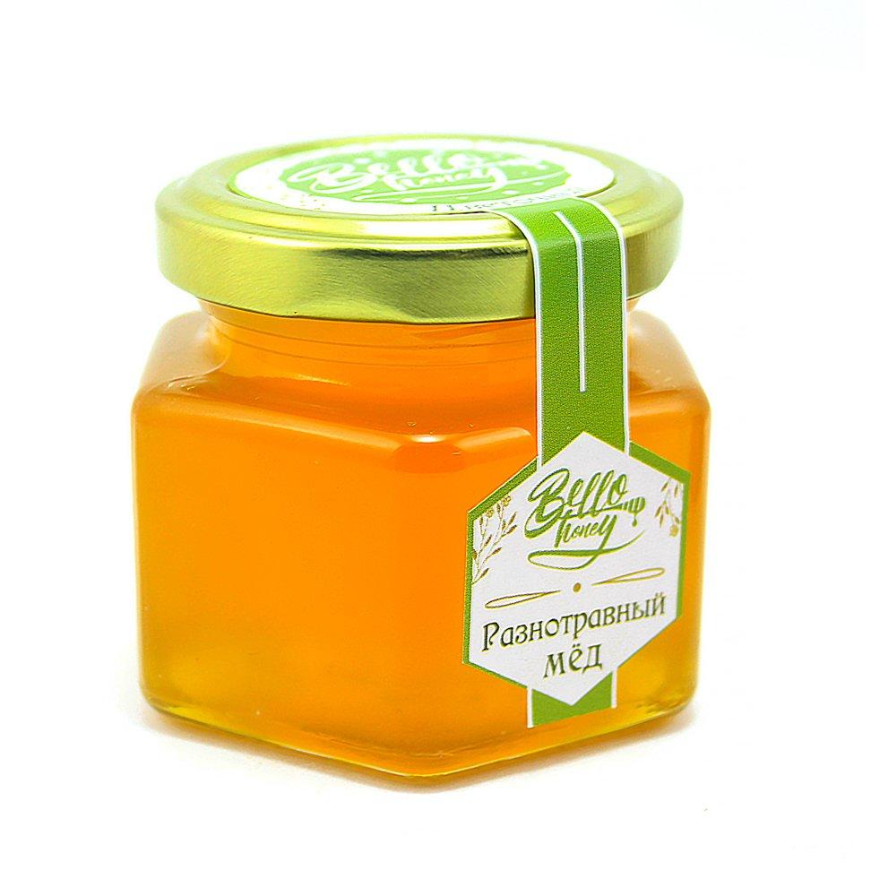 Мёд разнотравный, 120 мл, BelloHoney фото