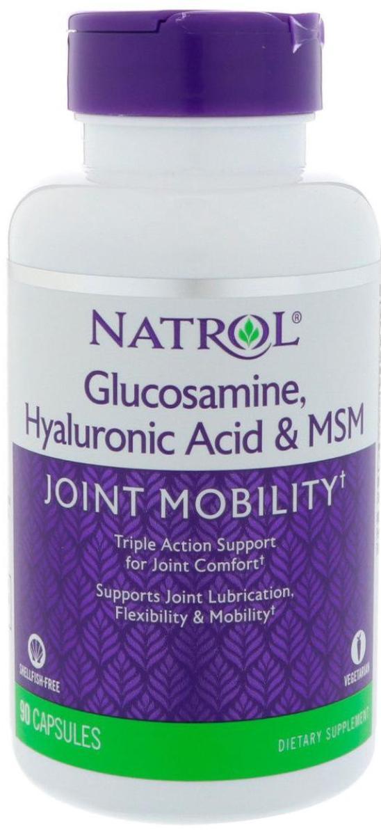 HYALURONIC ACID MSM  GLUCOSAMINE, 90 капсул, Natrol
