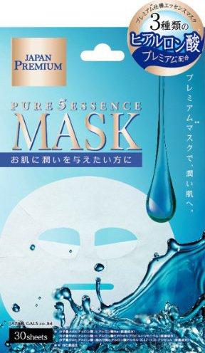 Маска для лица c тремя видами гиалуроновой кислоты Pure5 Essence Premium, 30 шт, JAPAN GALS фото