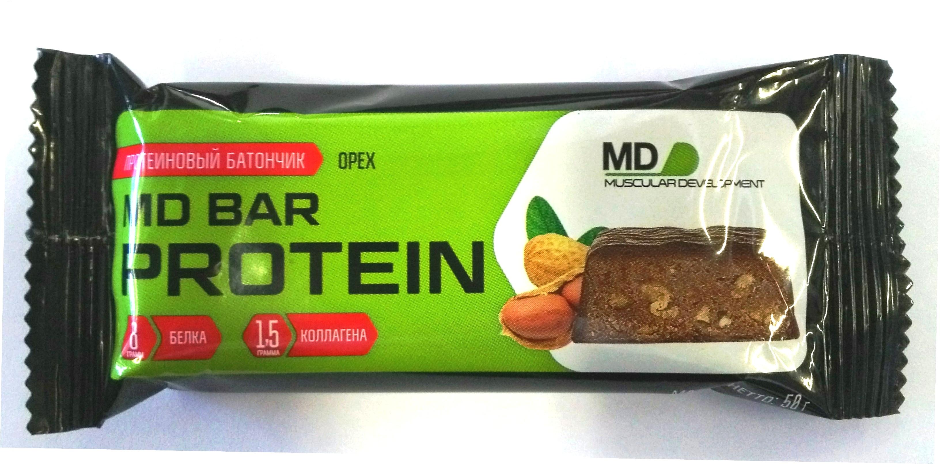 Батончик с протеином MD Bar, вкус