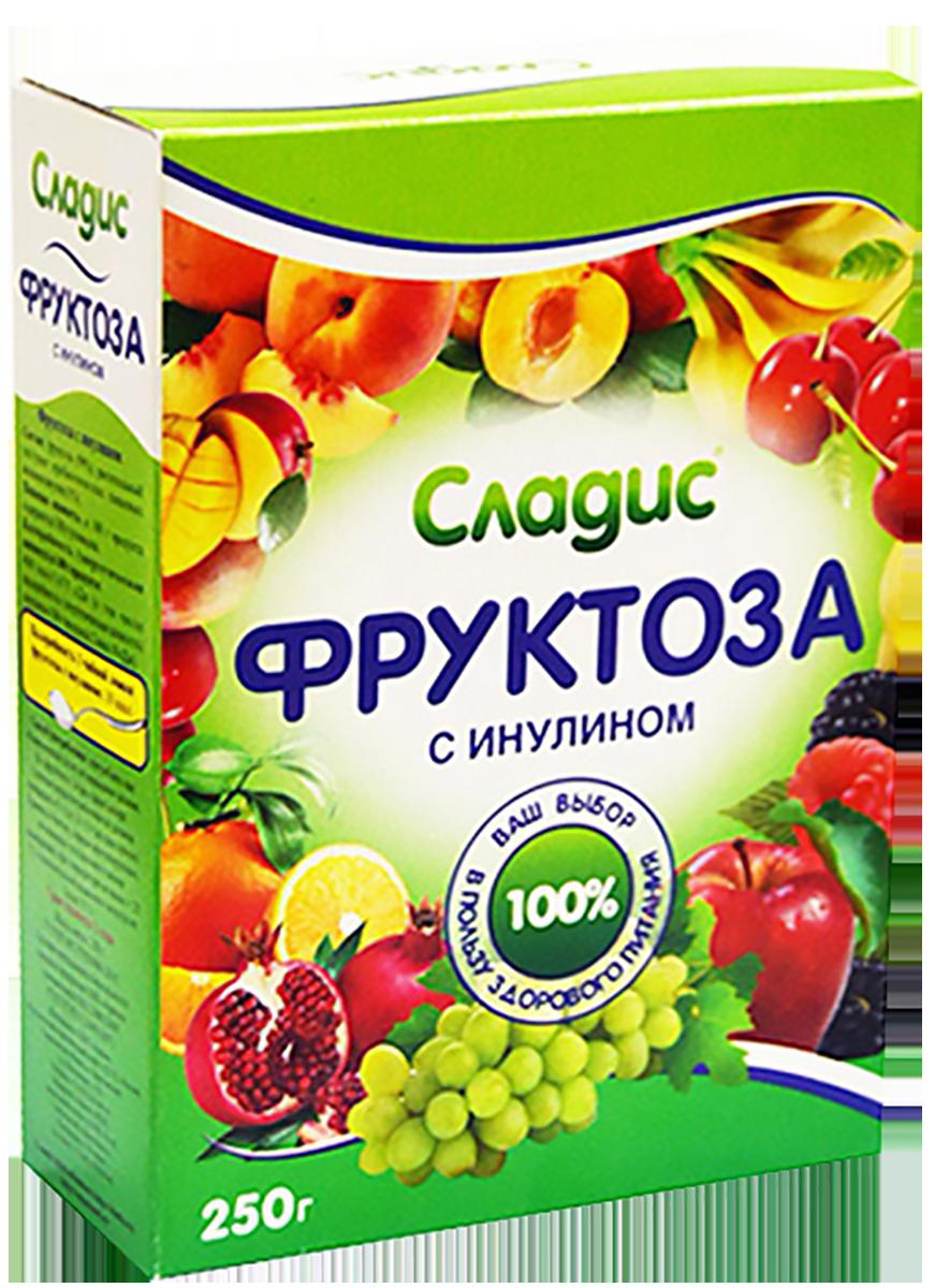 Фруктоза Кристаллическая с инулином, 250 г, Сладис