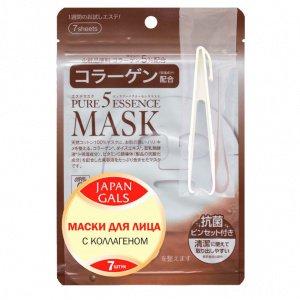 Маска с коллагеном Pure5 Essence, 7 шт, JAPAN GALS фото