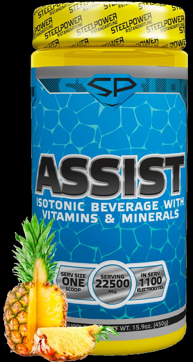 Изотонический напиток ASSIST, вкус «Ананас», 450 гр, STEELPOWER фото