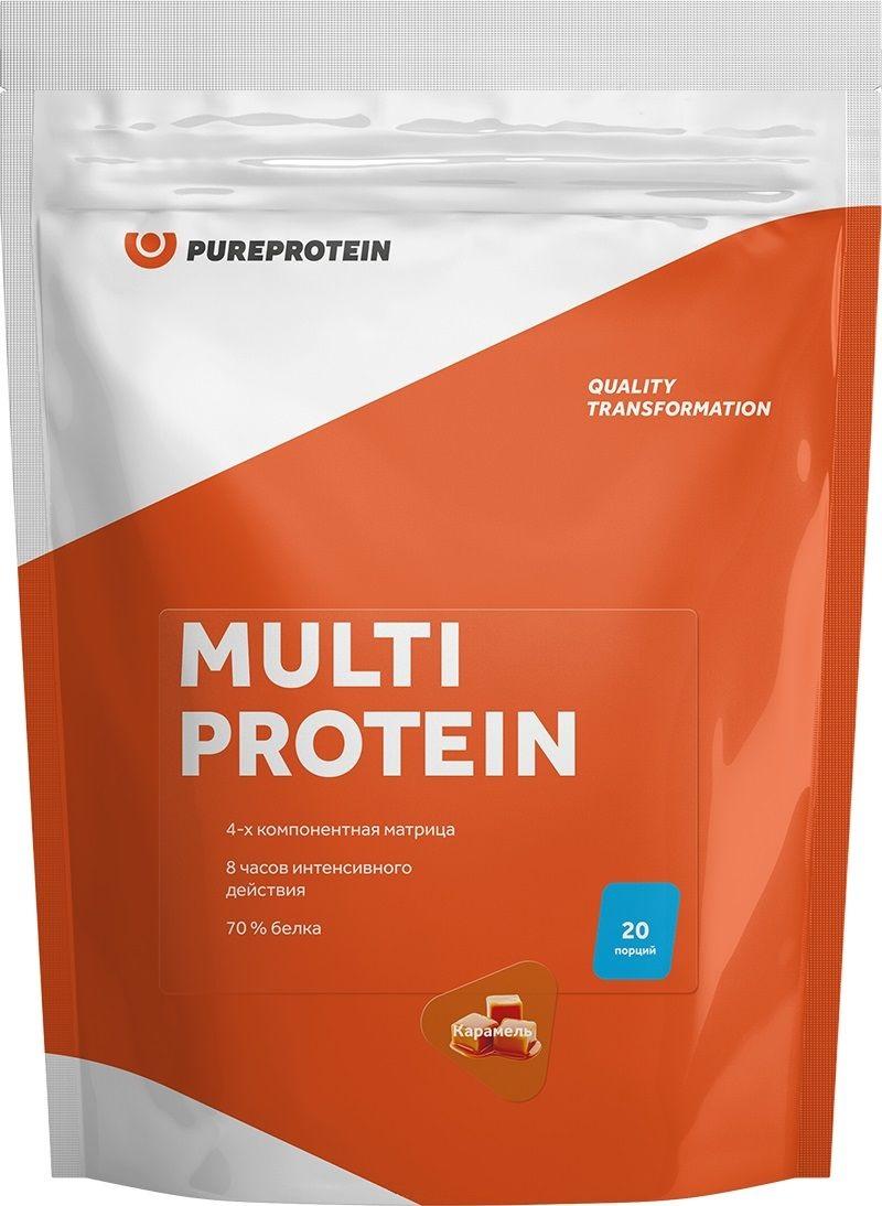 Купить со скидкой Мультикомпонентный протеин, вкус «Сливочная  карамель», 600 гр, Pure Protein