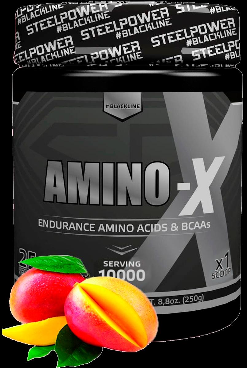 Аминокислотный комплекс AMINO-X, вкус Манго, 250 гр, STEELPOWER
