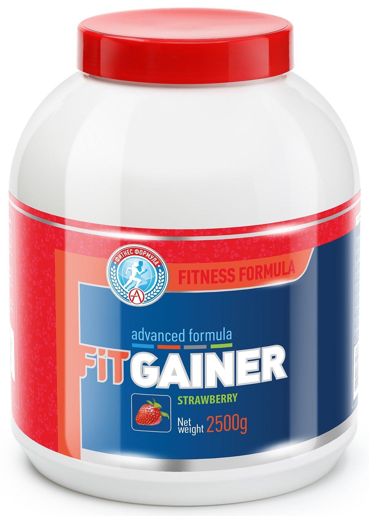 Гейнер Fit Gainer, вкус клубника, 2500