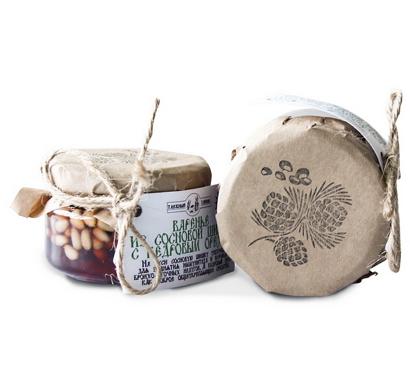 Варенье из сосновых шишек с кедровым орехом 120 гр, Таёжный Тайник фото