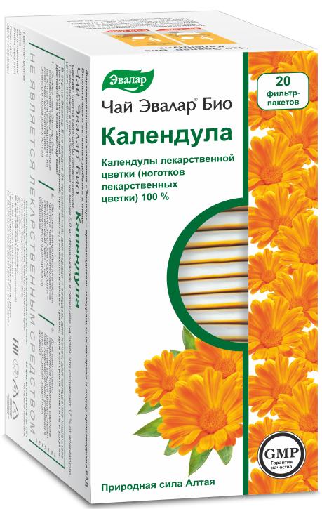 Чай Эвалар БИО календула, 20 фильтр-пакетиков фото