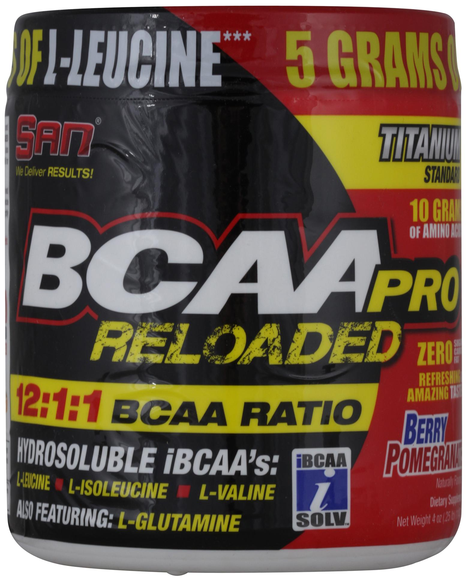 BCAA-Pro Reloaded, вкус черника, 114 гр, SAN