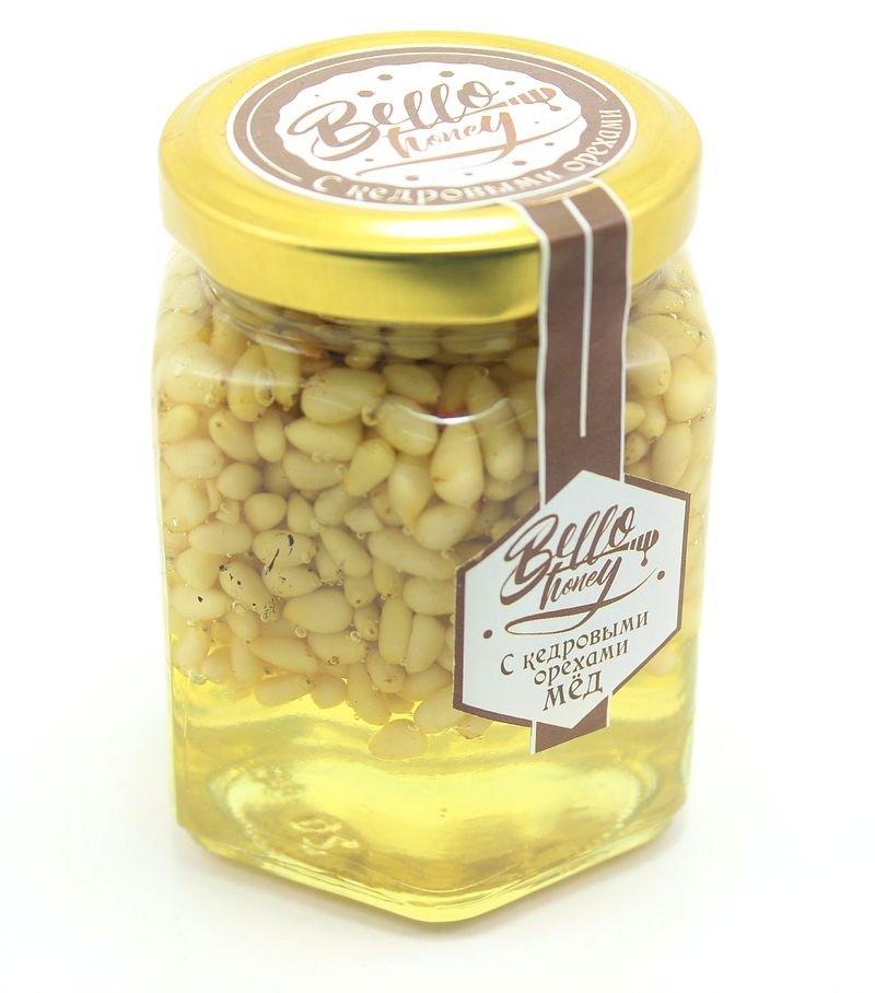 Кедровые орешки в меду, 200 мл, BelloHoney фото