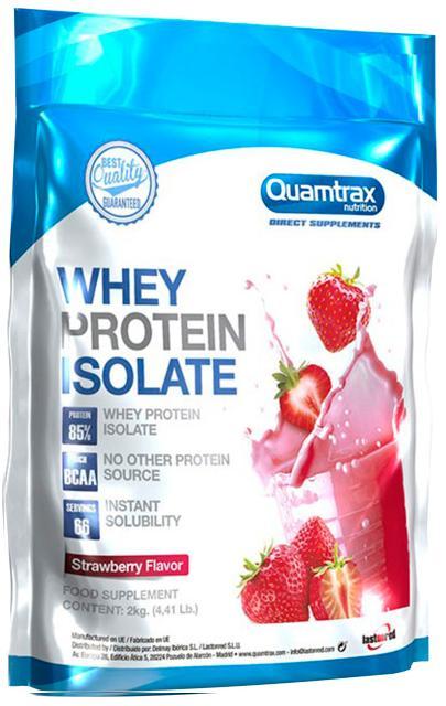 Протеин Direct Whey Protein Isolate, вкус клубника, 2 кг, Quamtrax