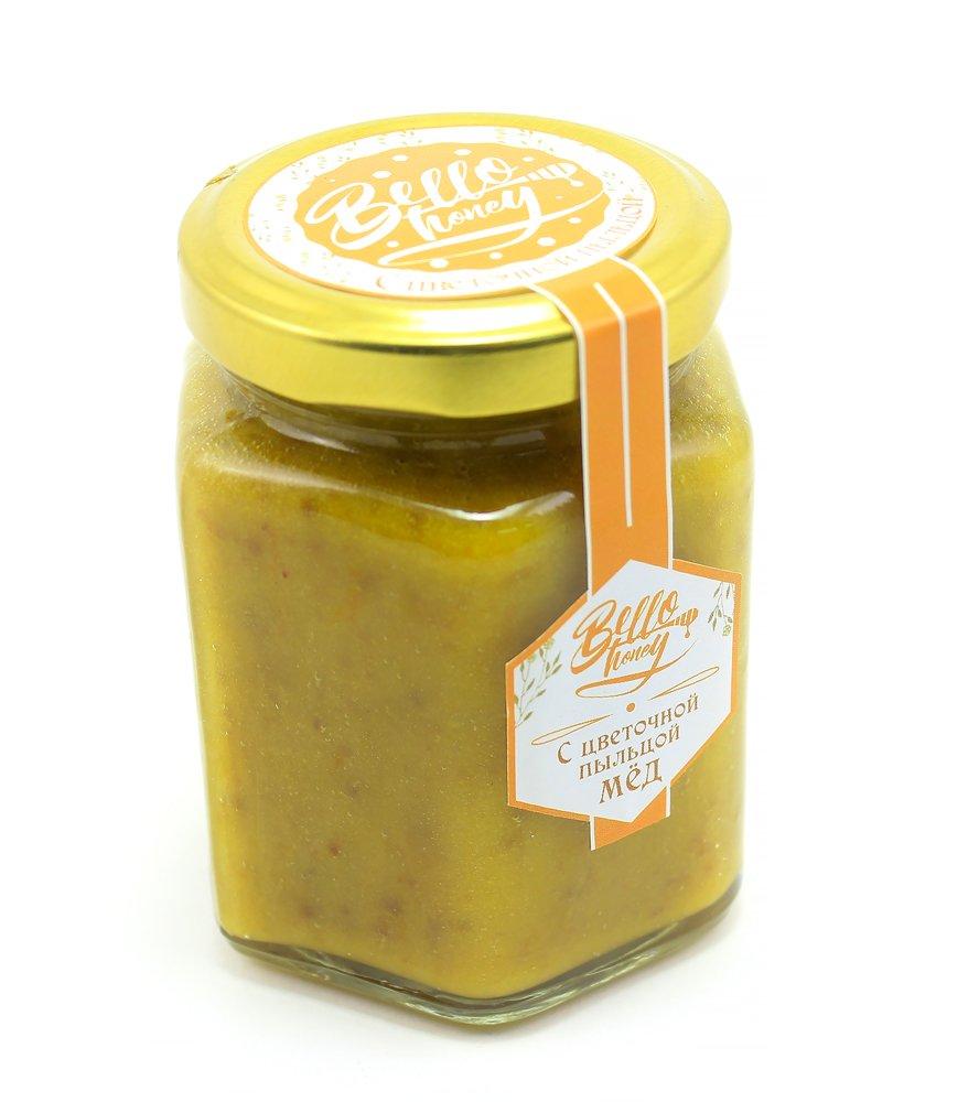 Мёд с цветочной пыльцой, 200 мл, BelloHoney фото