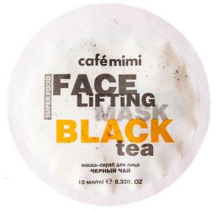 Маска-скраб для лица Черный чай&Лемонграсс, 10 мл, CafeMIMI фото