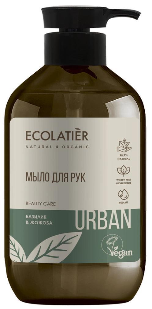 Жидкое мыло для рук базилик & жожоба, 400 мл, Ecolatier фото