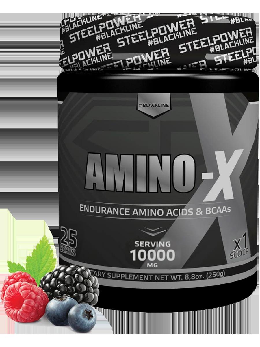 Аминокислотный комплекс AMINO-X, вкус Лесные ягоды, 250 гр, STEELPOWER