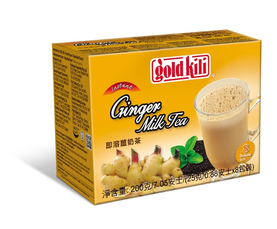 Имбирный чай с молоком быстрорастворимый, коробка 200г, Gold Kili.