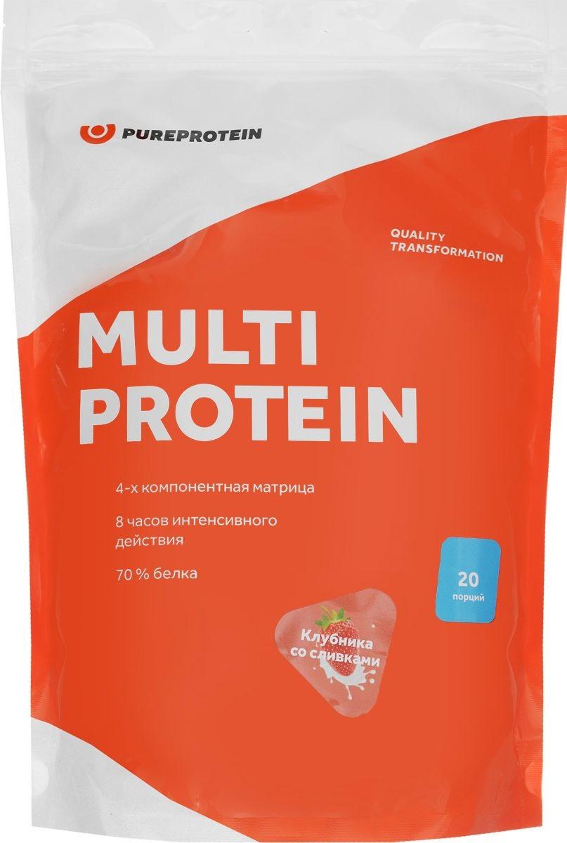 Мультикомпонентный протеин, вкус «Клубника со сливками»,