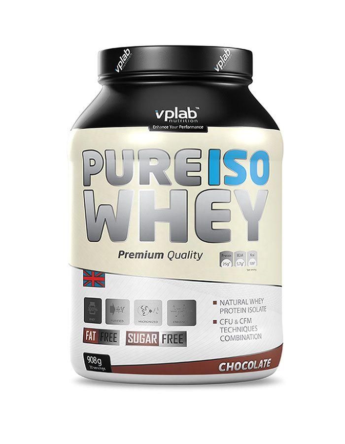 Изолят сывороточного протеина Pure ISO Whey, вкус «Шоколад», 908 гр, VPLab фото