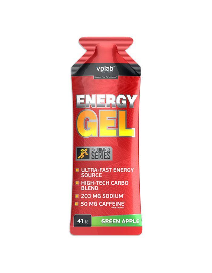 Энергетический напиток с кофеином Energy Gel, вкус «Зеленое яблоко», 41 гр, VPLab фото