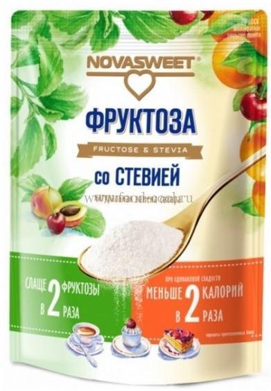 Фруктоза со стевией, 250 гр, НОВАСВИТ
