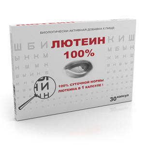 Лютеин 100%, 476 мг, 30 капсул, РеалКапс