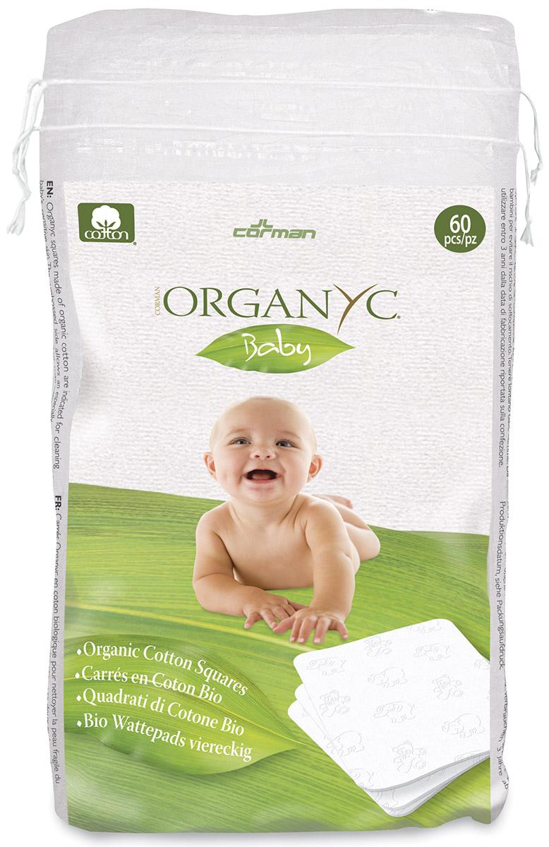 Детские ватные подушечки из органического хлопка, 60 шт, Organyc фото