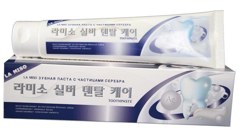 Зубная паста с частицами серебра, 150 гр, LA MISO фото