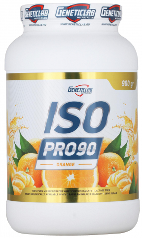 Iso Pro 90, вкус апельсин, 900 гр, Geneticlab