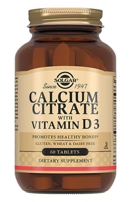 Цитрат кальция с витамином D3, 60 таблеток, Solgar