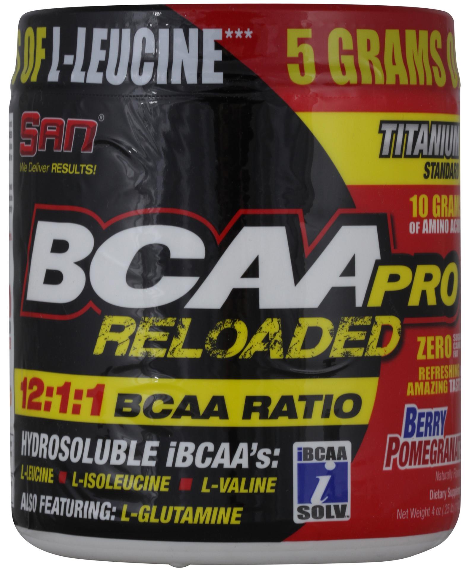 BCAA-Pro Reloaded, вкус гранат, 114 гр, SAN