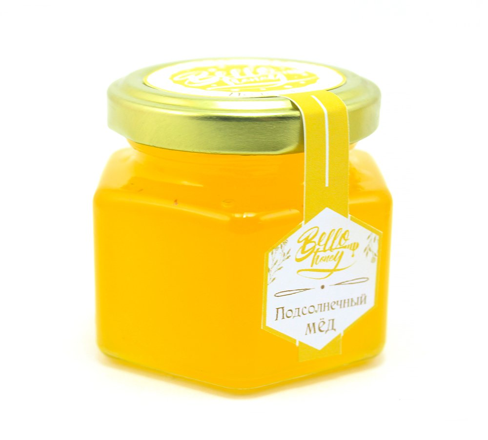 Мёд подсолнечный, 120 мл , BelloHoney фото