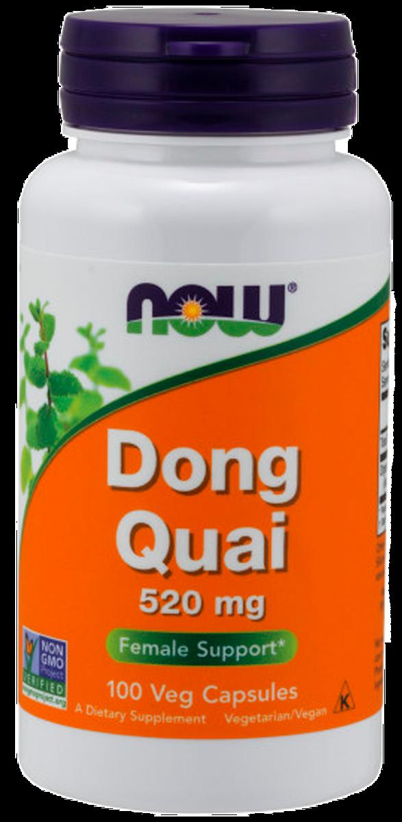 Дудник, 520 мг, 100 вегетарианских капсул, NOW