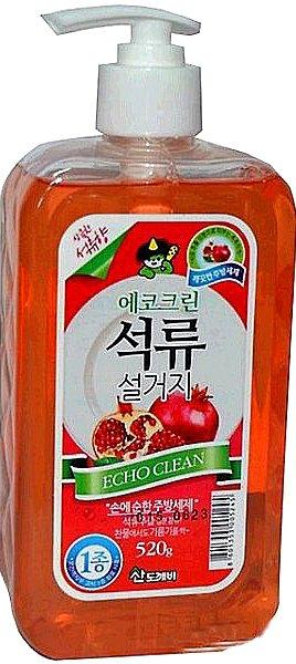 Купить со скидкой Средство для мытья посуды овощей и фруктов  Echo clean (гранат), 520 гр, Sandokkaebi