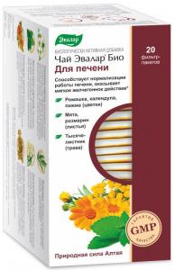 Чай Эвалар БИО для печени, 20 фильтр-пакетов - купить за 133 руб. в интернет-магазине Фитомаркет
