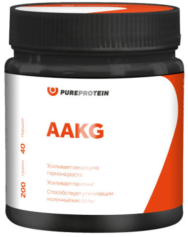 AAKG, апельсин, 200 гр, PureProtein