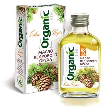 Масло пищевое нерафинированное кедровое, 100 мл, Organic Life
