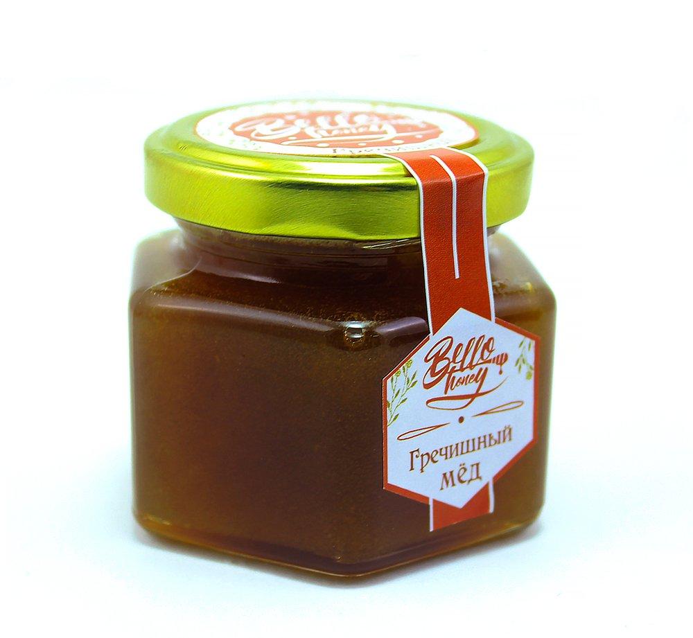 Мёд гречишный, 120 мл, BelloHoney фото