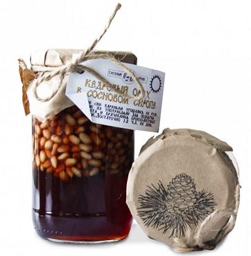 Кедровый орех в сосновом сиропе, 420 гр, Таёжный Тайник фото
