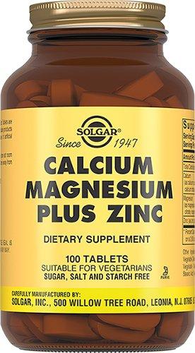 Кальций, магний, цинк, 100 таблеток, Solgar