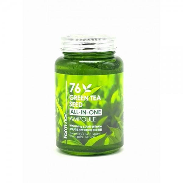 Многофункциональная ампульная сыворотка с зеленым чаем, 250 мл, FarmStay фото