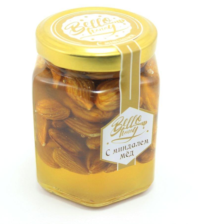 Миндаль в меду, 200 мл, BelloHoney фото